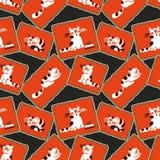Seamless mönstra - kattungar Arkivbilder