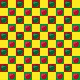 Seamless mönstra med äpplen Arkivfoto