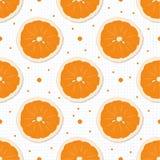Seamless mönstra med apelsinen Vit bakgrund med textur Royaltyfri Fotografi