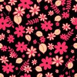 Seamless mönstra med blom- beståndsdelar Royaltyfri Foto