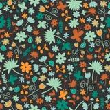 Seamless mönstra med blom- beståndsdelar Arkivbilder