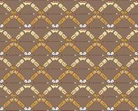 Seamless mönstra med bumeranger och pilar Royaltyfri Bild