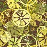 Seamless mönstra med citroner Arkivfoto
