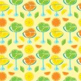 Seamless mönstra med citrust driftstopp Royaltyfri Bild