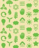 Seamless mönstra med ecosymboler Arkivfoto