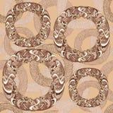 Seamless mönstra med färgrika donuts Arkivbild