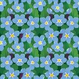 Seamless mönstra med härliga blommor Royaltyfria Bilder
