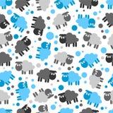 Seamless mönstra med lambs stock illustrationer