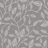 Seamless mönstra med leafs Arkivfoto