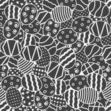 Seamless mönstra med påskägg Arkivfoto