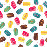 Seamless mönstra med smakliga donuts Arkivbild