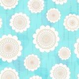 Seamless mönstra med snowflakes Royaltyfri Fotografi