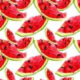 Seamless m?nstra med vattenmelonen royaltyfri illustrationer