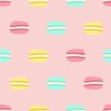 Seamless macaron pattern Stock Images