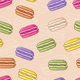 Seamless macaroon background Stock Images