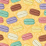 Seamless macaroons pattern Stock Photo