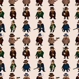 Seamless mafia pattern Stock Photography