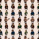 Seamless mafia pattern Stock Photography