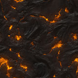 Seamless magma or lava texture Stock Image