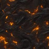 Seamless Magma Or Lava Texture Stock Image