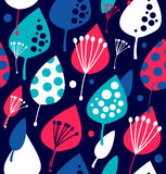 Seamless mail pattern. Cute doodle background with letters, camera, fruits, and other beauty elements/ Stock Photo