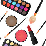 Seamless Makeup and cosmetics Royalty Free Stock Photo