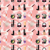 Seamless makeup pattern Royalty Free Stock Photo