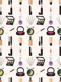 Seamless makeup pattern Royalty Free Stock Images