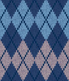 Seamless male knitted pattern royalty free stock photo