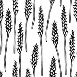 Seamless with Malt. Beer Pattern. Isolated On a White Background Realistic Doodle Cartoon Style Hand Drawn Sketch Vector Stock Photography