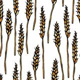Seamless with Malt. Beer Pattern. Isolated On a White Background Realistic Doodle Cartoon Style Hand Drawn Sketch Vector Royalty Free Stock Photo