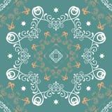 Seamless mandala pattern royalty free illustration