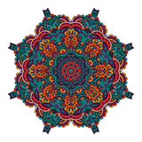 Seamless mandala pattern. Abstract floral festive colorful mandala vector ethnic tribal pattern Stock Photos