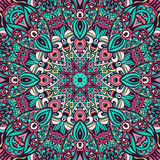 Seamless mandala pattern. Abstract Tribal vintage ethnic seamless pattern ornamental Royalty Free Stock Images