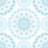 Seamless mandala pattern background. For websites background or card, for design, associated with yoga and India. Royalty Free Stock Images