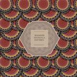Seamless mandala pattern Royalty Free Stock Images