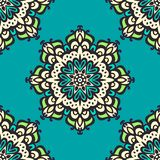 Seamless mandala pattern. Hand drawn background. Royalty Free Stock Photo