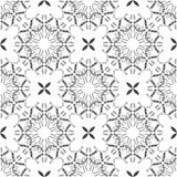 Seamless mandala pattern in moroccan arabic style Royalty Free Stock Image
