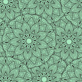 Seamless mandala pattern for printing on fabric or paper. Hand drawn background. Islam, Arabic, Indian, ottoman motifs. vector illustration