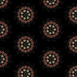 Vector seamless abstract mandala vintage pattern Royalty Free Stock Photography