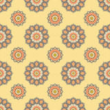 Seamless mandala pattern. Vintage elements in oriental style. Te Royalty Free Stock Photo
