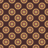 Seamless mandala pattern. Vintage elements in oriental style. Te Royalty Free Stock Photos