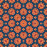 Seamless mandala pattern. Vintage elements in oriental style. Te Royalty Free Stock Photography
