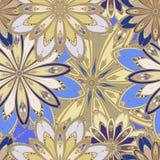 seamless mandalamodell dekorativ elementtappning bakgrund tecknad hand royaltyfri illustrationer