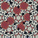 Seamless mandalas background. Red and gray mandala Royalty Free Stock Image