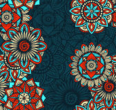 Seamless Mandalas Pattern Royalty Free Stock Photos