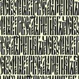 Seamless manuscript pattern Royalty Free Stock Image