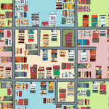 Seamless map of city Royalty Free Stock Photography