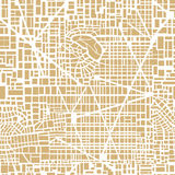 Seamless map  city plan. Seamless map of the city. Seamless city pattern.  Editable vector street map of a fictional generic town. Abstract urban background Stock Photo