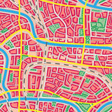 Seamless map unknown city. Royalty Free Stock Photography